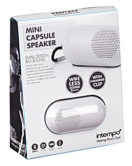 Intempo Mini Capsule Speaker White