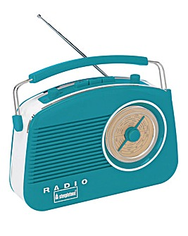 Steepletone Brighton Retro Radio Blue