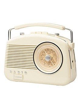 Steepletone Brighton Retro Radio Cream