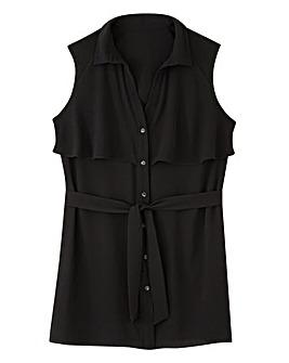 Black Layered Belted Tunic
