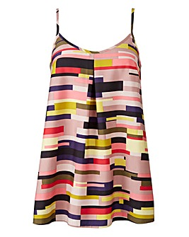 Multi Print Pleat Camisole