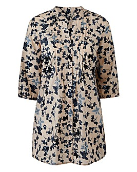 Nude Floral Cotton Tunic