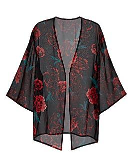 Red Print Kimono