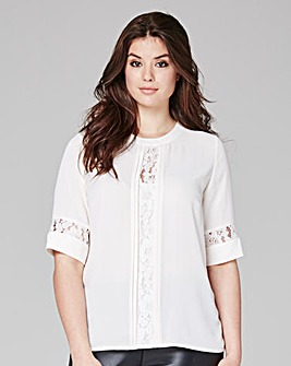 Ivory Lace Insert Shell Top