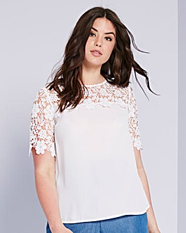 Ivory Crochet Lace Shell Top