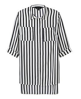 Stripe Longline Blouse
