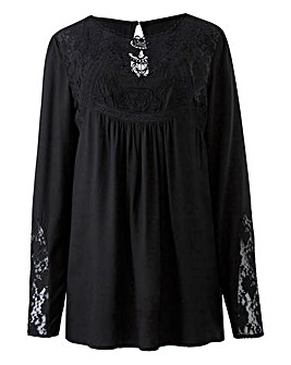 Black Victoriana Lace Blouse