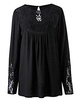 Black Victoriana Lace Blouse