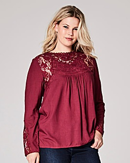 Deep Purple Victoriana Lace Blouse