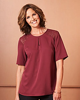 Damson Crochet Shoulder Blouse