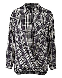 Grey Wrap Check Shirt