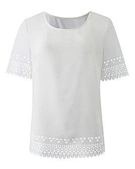 Ivory Laser Cut Shell Top