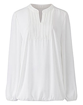 Ivory Box Pleat Blouse