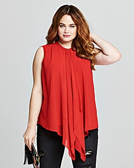 Red Waterfall Front Top