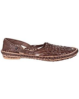 Base London Aztec Weave Slip on Shoe