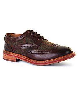 Chatham Lewis Tweed Welted Brogue