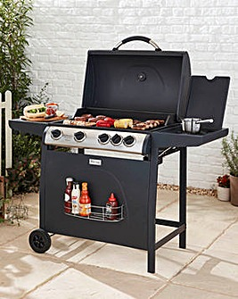 4 Burner Gas BBQ with Side Burner