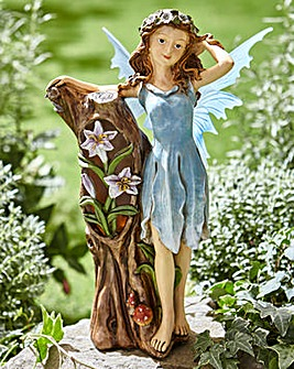 Blue Flower Fairy Solar Light