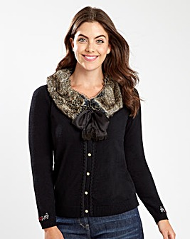 Joe Browns Fur Trim Cardigan