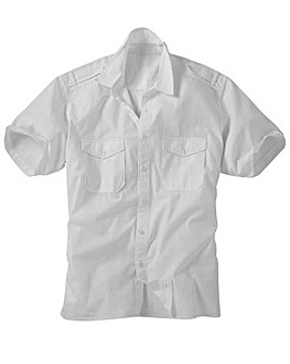 Jacamo Short Sleeve Military Shirt XLong