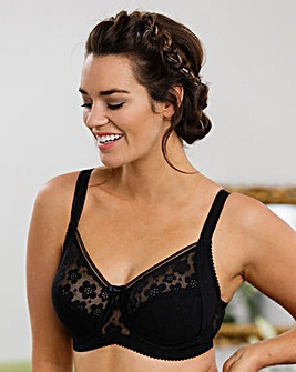 Miss Mary Stylish Full Cup Black Bra