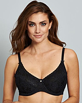 Berlei Heaven Lace Wired Black Bra
