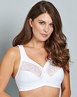 Glamorise Full Cup Non Wired White Bra