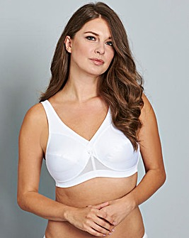 Glamorise Active Support Bra White