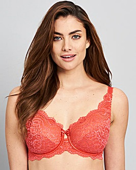 Playtex Flower Lace Wired Red Bra
