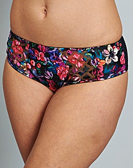 Panache Floris Black Floral Briefs