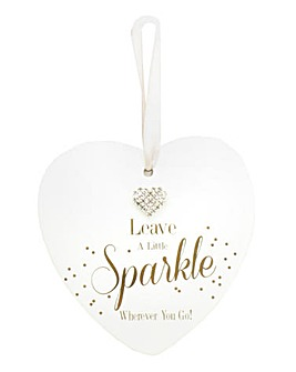 Leave a Little Sparkle Hanging Heart