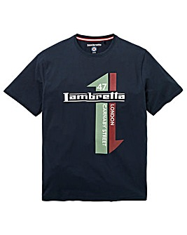 Lambretta Racing Stripe T-Shirt Reg