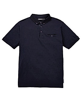 French Connection Printed Placket Polo