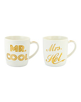 Mr Cool and Mrs Hot Mug Set