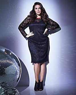 Anna Scholz Long Sleeve Lace Dress