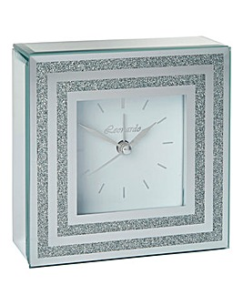Mirror Glitter Clock with Alarm