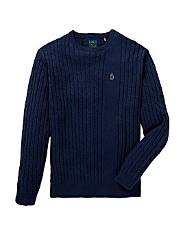 Luke Sport Spencer Cable Knit Jumper L