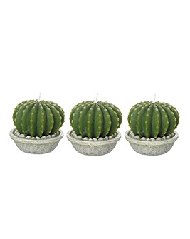 Set 3 Cactus Tealight Candles