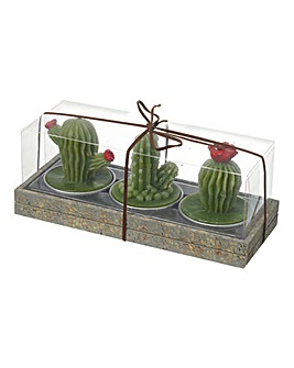 Set 3 Cactus Tealight Candles