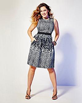 Kelly Brook Print Dress