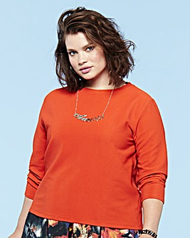 Look Ribbed Jersey Top