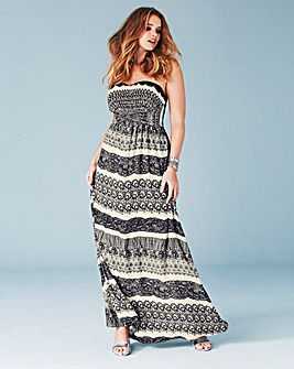 Lovedrobe Strappy Print Maxi Dress