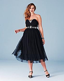 Lovedrobe Embellished Mesh Prom Dress