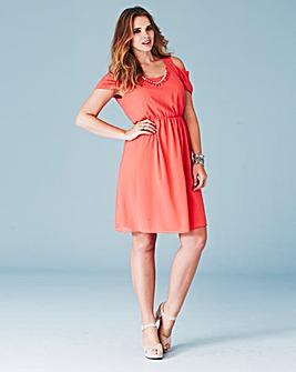 Lovedrobe Cut Out Shoulder Dress