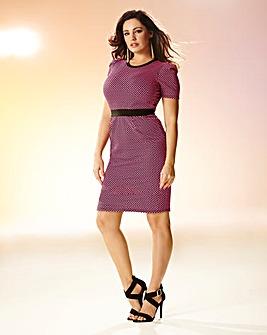 Kelly Brook Textured Dress