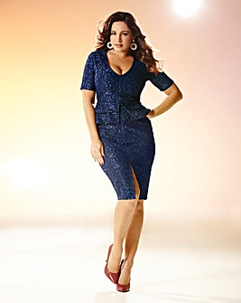 Kelly Brook Lace Peplum Dress