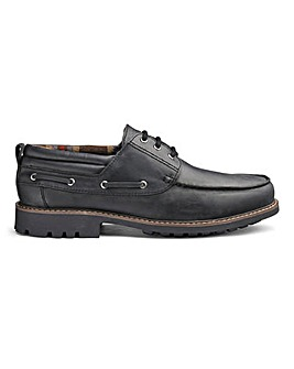 Leather Cleated Boat Shoes Extra Wide