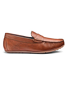 Leather Driving Loafers Standard Fit