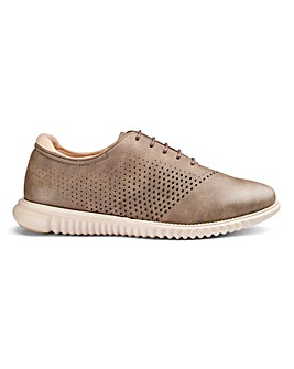 Perforated Lace Up Shoes Wide Fit