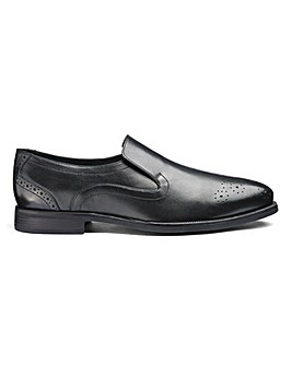 Leather Formal Slip On Shoes Ex Wide Fit